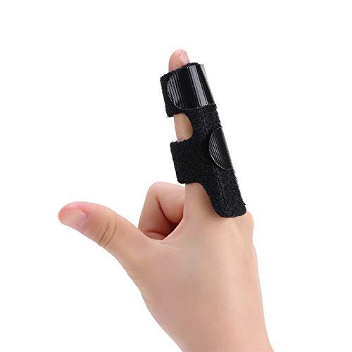 Férula de dedo gatillo, soporte de aluminio ajustable para extensión enderezar la artritis, mazo de dedo para la rigidez de los dedos, osteoartritis, nudillos esguincados alivio del dolor (negro)