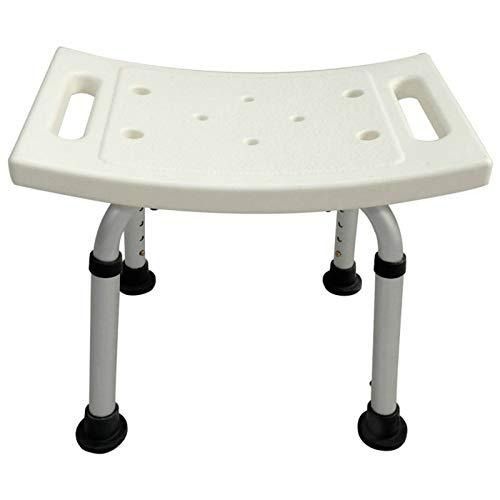 QFWM Taburete de baño y ducha portátil, taburete ligero para bañera y ducha, altura ajustable, taburete de ducha