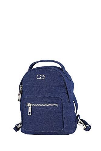 collezione alessandro Jeans Rucksack Blue aus weichem Denim-Material 17cm x 22cm x 9cm
