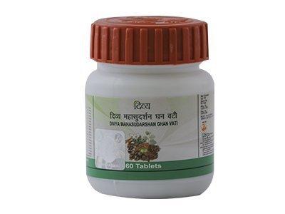 Baba Ramdev - Divya Mahasudarshan Ghan Vati - 60 Tablets Pack of 2