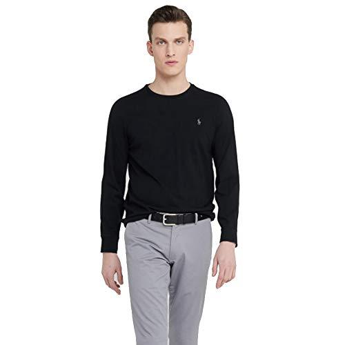 Ralph Lauren, Maglietta a maniche lunghe da uomo, con vestibilità personalizzata Nero S