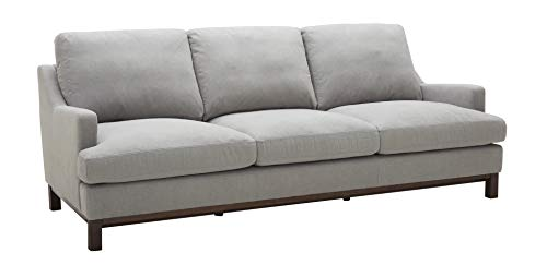 Stone & Beam Genesse Sectional Sofa Couch, 91'W, Smokey Blue