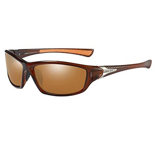 oshhni Unbreakable, Polarized Cycling, UV400 Protection Sports PC Full Frames Goggles, Protetor de óculos para Dirigir Atividades Ao Ar Livre - Marrom