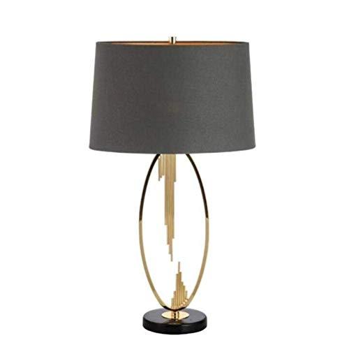 N/Z Equipo para el hogar Lámparas de Mesa Lámpara de Mesa Lámpara de Escritorio Lámpara de Mesa de Personalidad Creativa Simple para la Vida del Dormitorio Negro y Dorado A