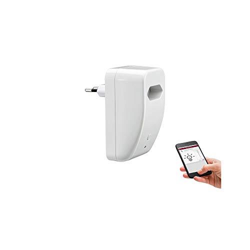 Paulmann 500.20 SmartHome Bluetooth EuroPlug Schalt/Dimm Zwischen-Stecker max. 300W 230V AC Weiß 50020 Konverter Bluetooth