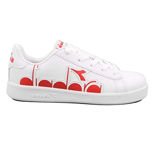 Diadora Game P Bolder GS Sneakers Bianco Rosso (36 - Bianco)