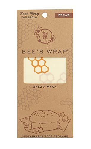 Bee's Wrap - Large Bread Wrap - Made in The USA with Certified Organic Cotton - Plastic and Silicone Free - Reusable Eco Friendly Beeswax Food Wraps