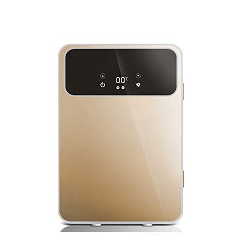 FAPROL Mini Frigo Congelateur De Voiture Refroidisseur Électrique Mobile Essentiel De L'été Utiliser pour Boissons Réfrigérées Gold/Temp Display