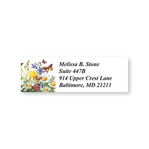 Flowers in The Meadow Set of 215 Sheeted Address Labels