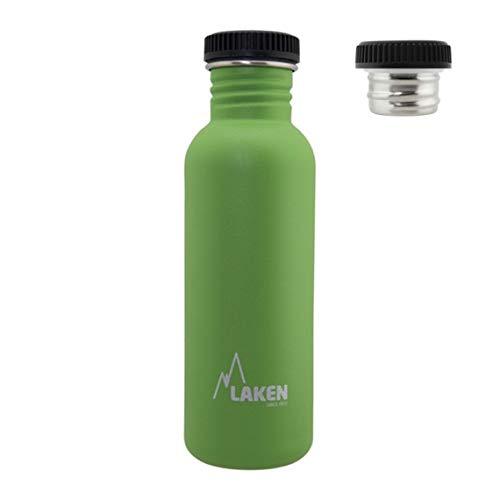 Laken Botella Básica INOX 0,75 L-Tapón Rosca Acero, Unisex Adulto, Verde (Verde), Talla Única