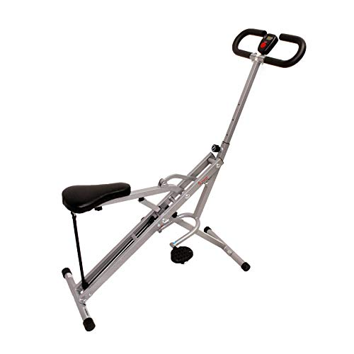 Product Image 12: Sunny Health & Fitness Squat Assist Row-N-Ride Trainer for Glutes Workout with Training Video