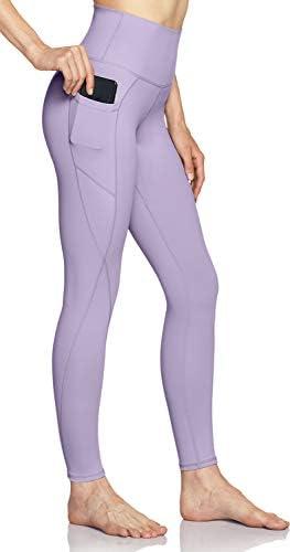 TSLA High Waist Yoga Pants with Pockets Tummy Control Yoga Leggings Non See Through 4 Way Stretch product image