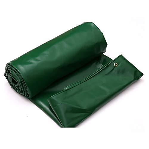 LXLIGHTS Bache Impermeable Auvent, Bâche Camion Linoléum Toile De Protection Imperméable/Neige/Soleil, Épaisseur 0.7MM 650g \ M2 Polyester (Couleur : Green, Taille : 300 * 300cm)
