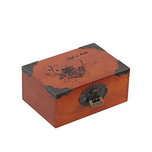 XGYUII Coffin Box Gecremeerde Resten Houten urnen Volwassen Uitvaarttank crematie urns begrafenis gereedschapskist (20 * 14 * 9CM)