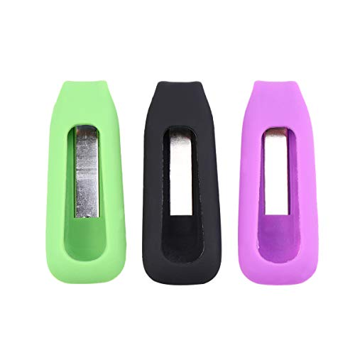 VORCOOL Compatible Clip Holder Replacement for Fitbit One 3 Pcs Colorful Wireless Activity Plus Sleep Tracker Replacement Clips Holders
