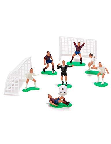 Dekoback  2217461 Terrain de football Figures pour décoration Plastique Multicolore 15 x 13,5 x 3 cm 7 Pièces