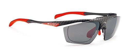 RUDY PROJECT(ルディプロジェクト) 跳ね上げ式 はねあげ クリップオン ロードバイク スポーツサングラス サイクリング 自転車 フィット感 調整可能 スポーツ眼鏡 インパルス フリップアップ カーボニウム/スモーク 0134-SP341019