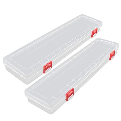 EXCEART Contenedores de Almacenamiento de Limo Rectángulo Caja de Plástico Transparente con...
