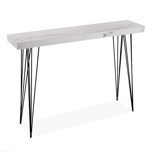VERSA 20360107 Tavolo da Ingresso consolle, Legno, Nero, 110 x 80 x 25 cm