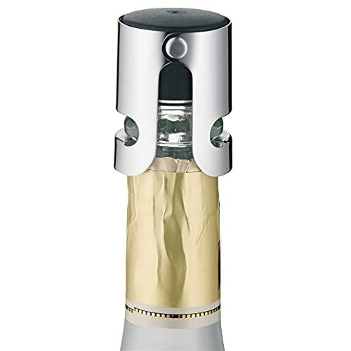 WMF Clever&More Sektverschluss 4 cm, Champagner Verschluss, Sektflaschenverschluss, Cromargan Edelstahl mattiert, Flaschenverschluss