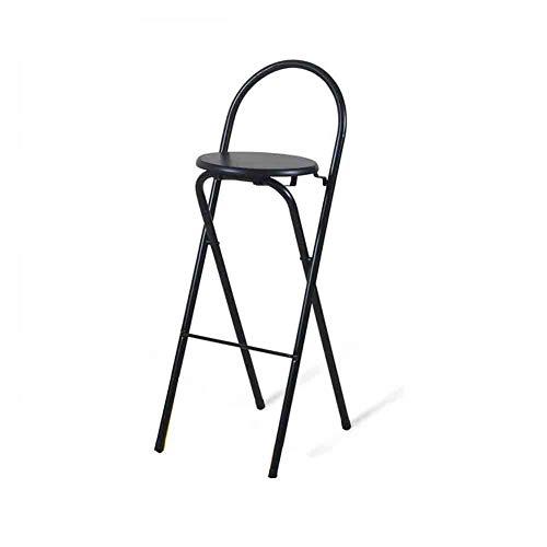 Sunny Chaise Pliante Chaise Tabouret Tabouret Chaise Haute (Couleur : Noir)