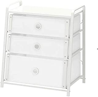 Chest of 3 drawers, white, 55x62 cm