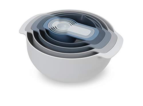 Joseph Joseph Nest 9 Plus Editions-Juego de Cocina Compacto de 9 Utensilios-Cielo, plástico