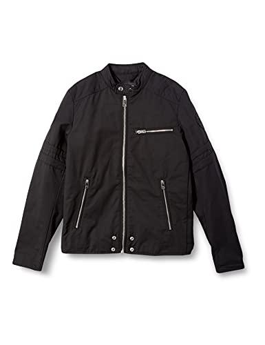 (ディーゼル) DIESEL メンズ ジャケット ライダースジャケット コットン ポリエステル パッチ 00SKL80LAXT M ブラック 900