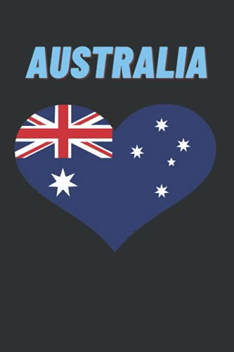 Australia: Notebook, Australia flag Journal, Notepad , 6x9, 120 pages
