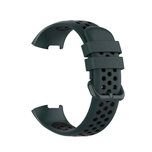 Supefriendly Pulsera de silicona de dos colores para reloj Fitbit Charge3/3SE/4/4SE