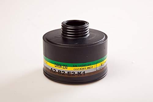 Mehrbereichs Schraubfilter DIRIN 230 ABEK/für Polimask 330,ALFA,C607/Selecta,SFERA/Atemschutz gegen organische und anorganische Gase und Dämpfe, Schwefeldioxid und Ammoniak