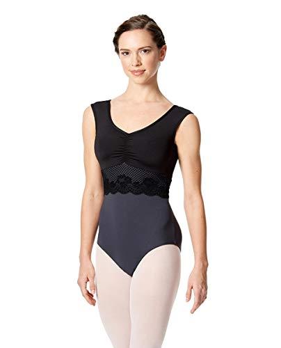 Lulli Dancewear - Body de ballet para mujer, sin mangas, color negro, talla: L