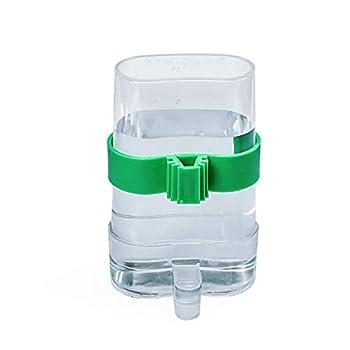 COCOCITY Distributeur Automatique d'eau et de Nourriture, 13,4 × 7,5cm Mangeoire à Oiseaux Abreuvoir Oiseaux en Plastique Transparent