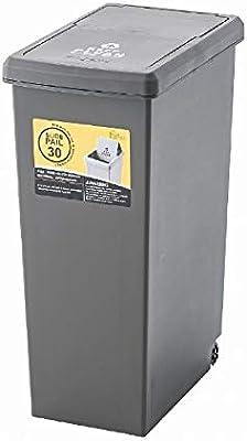 東谷(Azumaya-kk) フタ付きゴミ箱 ブラウン W24×D37×H53cm LFS-762BR