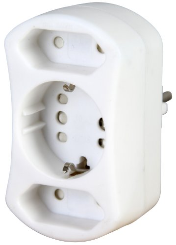 Kopp DUOversal adaptador de enchufe eléctrico Tipo F Tipo C (Europlug) Blanco - Adaptador para enchufe (Tipo F, Tipo C (Europlug), 250 V, 16 A, Blanco, Male connector/Female connector)