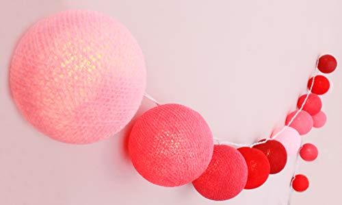 CREATIVECOTTON Guirlande Lumineuse, Boules de Coton avec Mode Timer et Mode Veilleuse (Lovestory, 20 boules)