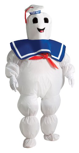 Child's Stay Puft Ghostbusters Costume, inflatable jumpsuit with fan