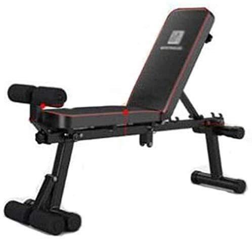 AINH Peso ajustable banco del entrenamiento plegable Bench, ajustable Peso Bench Inicio Entrenamiento en gimnasio levantamiento de pesas Sit-up banco de ejercicio de múltiples funciones plegable con m