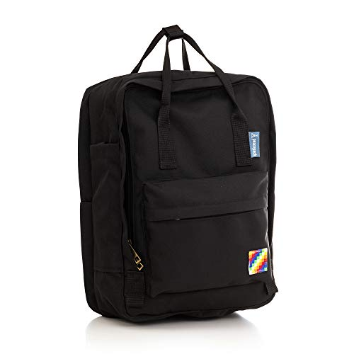Peacepack Original Compact Size Backpack with Padded Laptop Pocket (Space Black)