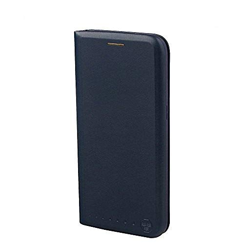 Nouske Lederflip case für Samsung Galaxy S7 Edge Hülle Tasche handgefertigt geschwungene Kanten mit Aufsteller & Kartenfach TPU Cover Tasche Marineblau.