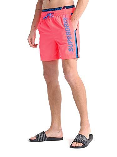 Superdry Herren State Volley Swim Shorts, Orange (Cuba Coral 0UZ), XX-Large