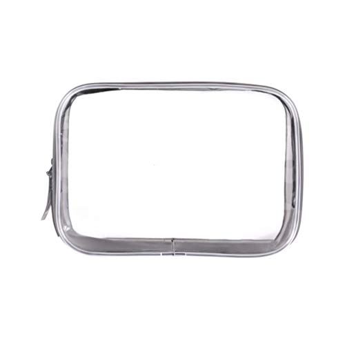 LIOOBO Sacchetto Trasparente per Articoli da Toeletta Borsa Cosmetica Impermeabile Borsa per Viaggio Aereo Conforme Alle Linee Aeree Aeroporto Custodia per Dentifrici Spazzole per Cavi USB