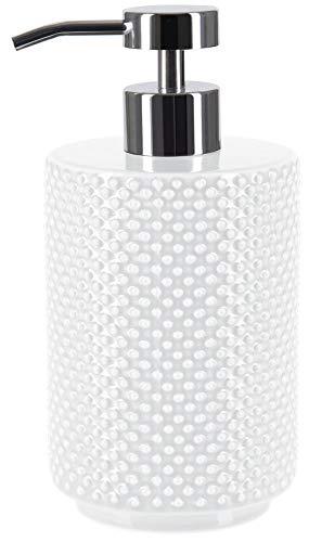 Spirella Seifenspender Mero Porzellan Flüssigseifen-Spender 400ml Weiss Made in Europe