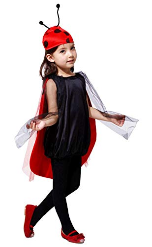 Disfraz de niña mariquita disfraces de mariquita halloween carnaval cosplay talla s 95 110 cm idea de regalo para fiestas ladybug cosplay