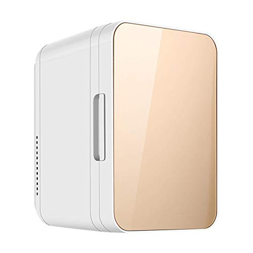 JLKDF Mini refrigerador silencioso de 8 l para automóvil con Puerta de Vidrio, refrigerador para Bebidas, pequeño minibar para Acampar, 12 V/220 V para almacenar Leche Materna, Cuidado d