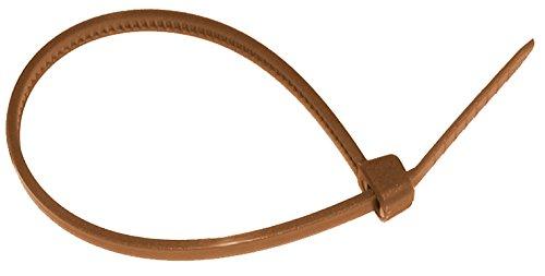 Biotop Kabelbinder oder Fesseln für Garten, 50Stück, 14cm x 3mm, braun, 1x 1x 1cm, B2142