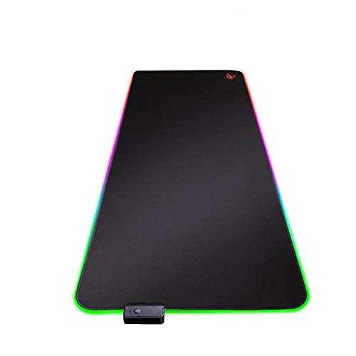 Gaming Mouse Pad RGB USB LED 14 Groups of Lights Extended Illuminated Keyboard Non-Slip Blanket Mat,HV-MP858