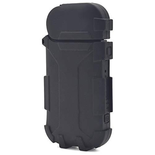 iQOS アイコス 電子タバコ カラー シリコン ソフトケース ユニセックス 男女兼用 ポーチ 収納 カバー (ブラック)