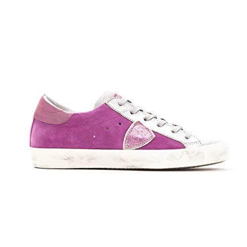 Philippe Model Sneakers Paris L DMIXAGE Schuh 100% Leder Made in Italy Damen CLLDXY27, Pink - Rosa - Größe: 40 EU