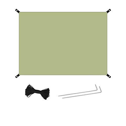YOUCAI Toldo de Refugio Impermeable Carpa Lluvia Refugio Tarp Vela de Sombra Rectangular Protección Rayos UV para Playa Acampar Picnic Impermeable-Verde del ejército 150x210cm